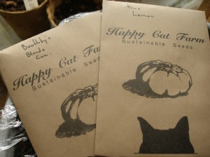 Happy Cat Cucumber Seed Packets