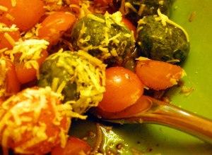 arugula spinach gnocchi